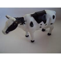 Animais Da Fazenda Vaca Malhada Leiteira Leite 13 Cm Borrach