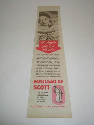 ( L - 290/ G ) Tira De Propaganda Antiga Emulsão De Scott
