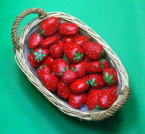 pedras para jardim mercado livre : pedras para jardim mercado livre:10 Moranguinhos De Pedra Decoração Jardim – R$ 50,00 no MercadoLivre