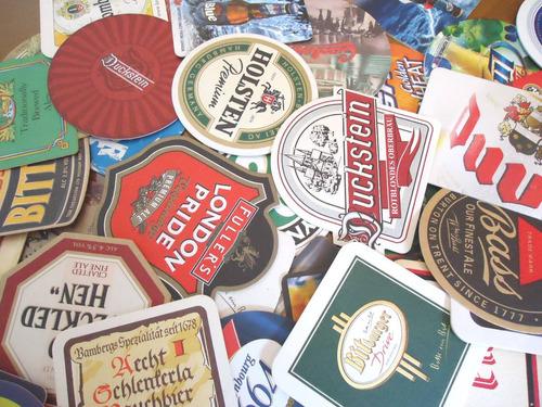 100 Bolachas De Chopp - Porta-copos Cerveja - Novas, Sem Uso