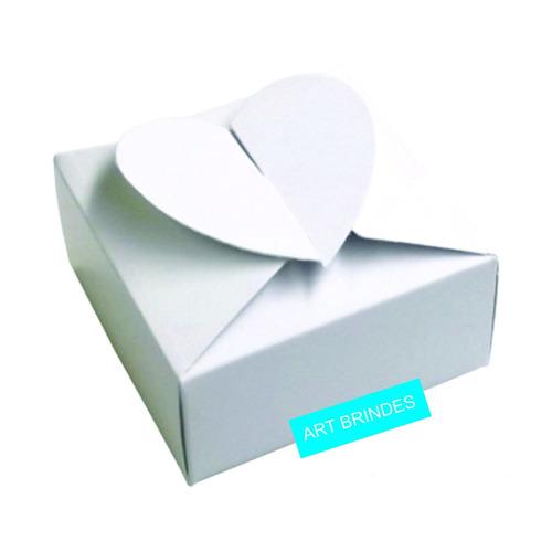 100 Caixinhas Coração P/ Bem Casados Docinhos Lembrancinhas