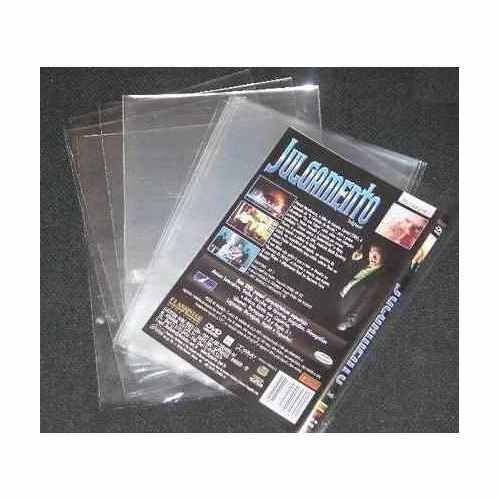 100 Envelopes Plasticos Igual De Camelô Para Encarte De Dvd