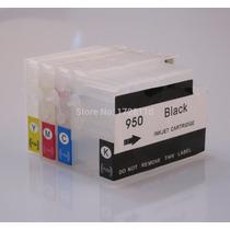 Cartuchos Recarregáveis Hp Pro 8100 8600 8610 8620 + Tinta