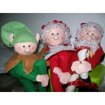 Bonecos Trio Papai Noel