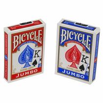 Novo Baralho Lacrado Combo 2 Bicycle Jumbo Poker Size Magica