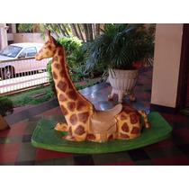 Girafa Gangorra Em Fibra