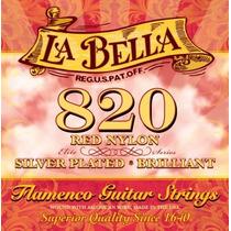 La Bella 820 Elite | Encordoamento P/ Violão Nylon Flamenco