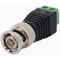 Kit 100 Plug Bnc + 100 Plug P4 Macho P/ Cftv