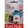 Cartão Micro Sdhc 64gb Ultra Sd Sandisk Classe 10 + Brinde