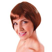 Peruca - Flirty Womens Ladies Flick Bob Glamour Sexy Brown