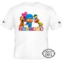 Camisa Camiseta Blusa Personalizada Pocoyo Elly Pato Loula