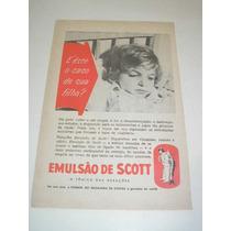 ( L - 290/ P ) Propaganda Antiga Emulsão De Scott