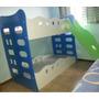 Beliche Infantil Com Grade De Proteção E Escorregador - 188x