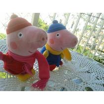 Peppa Pig E George -curtindo A Neve +dvd Peppa A P.entrega .