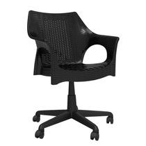 Cadeira Office Para Escritório Preta De Rodízio Pé Giratóri