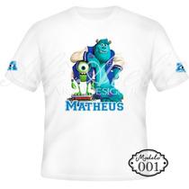 Camisa Camiseta Blusa Personalizada Monstros Sa Mike Sulley