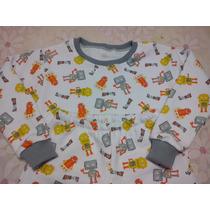 Pijama Infantil Peluciado Inverno - Tamanho 2, 4 E 6- Menino