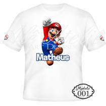 Camisa Camiseta Blusa Personalizada Super Mario Bros