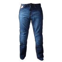 Calça Jeans Motociclista Com Proteção Nos Joelhos E Quadril