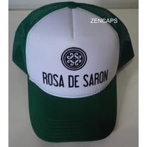 Boné Trucker Cap Tela Rosa De Saron