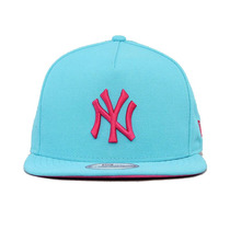 Boné Aba Reta New Era York Yankees Azul/rosa With Strapback