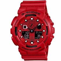 Relógio Casio G Shock Ga-100c-4adr Vermelho Pronta Entrega