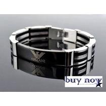 Pulseira Bracelete Masculino Armani!! Em Aço Inox!!