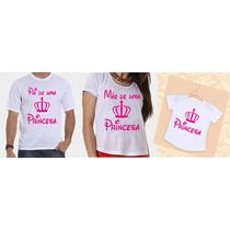 Camisetas Tal Pai, Tal Mãe, Tal Filha Coroa Rosa