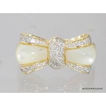 Boqueiraojoias Anel Larço 40 Diamantes Ouro 18k-750