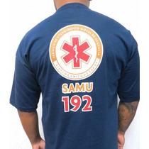 Camiseta Samu Azul 192 - Estampado Nas Costas