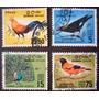 6563 Ceilão Pássaros Exóticos Selo Yvert N 347+358/60 Circ