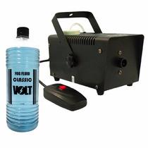 Kit Maquina De Fumaça 600w C/ Controle +liquido Frete Grátis