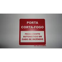 Placas Fosforescente Em Pvc 15x15 Porta Corta Fogo