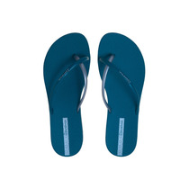 Sandália Chinelo Ipanema Feminino Fit Summer Azul/ Prata