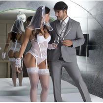 Fantasia Noiva Sexy Espartilho + Brinde + Frete Grátis