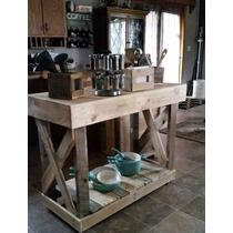 Mesa Ilha Cozinha Armário Pallets Multi Uso Madeira Maciça