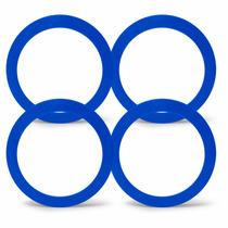 Jogo 4 Anel Centralizador Roda Esportiva Gm 71,9mm Azul