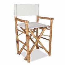 Cadeira Diretor De Bambu, Bamboo, Exterior, Jardim Decoração
