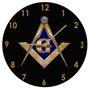 Relógio De Parede - Maçonaria - Esquadro E Compasso