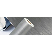 Adesivo Vinil Estilizando Aço Escovado 500x50cm