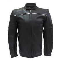 Jaqueta Daihead Moto De Couro Com Proteções
