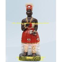 Escultura Orixa Africano Xango Linda Imagem 25cm Fabrica