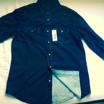 Camisa Masculina Longa Jeans Preta Rock Country Casual Frio