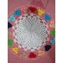 Conjunto Croche C/ Flores Coloridas+2pares Jogo Americano