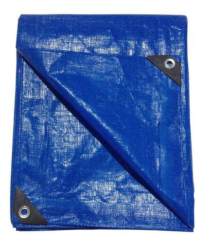 Lona Polietileno Azul 5x3m 250 Micras Com Ilhós - Toolmix