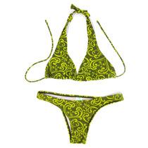 Biquíni Verde Estampado Marca Água Doce Tam Pequeno Bikini