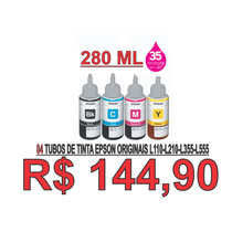 Refil Tinta Original Epson L110 L200 L210 L335 Só R$ 144,90