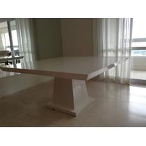Mesa Em Madeira Maciça, Laca Branca, Loja Design Erea