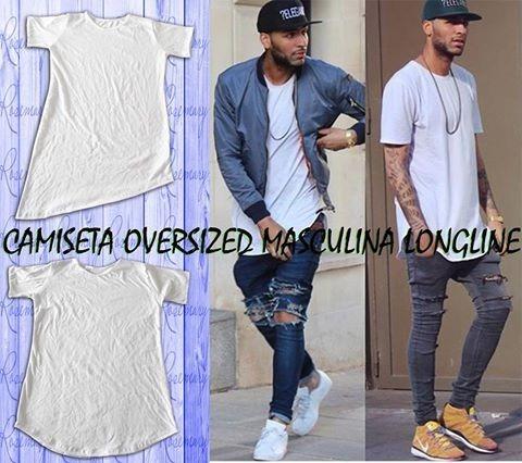 2cdbe745f2 Camiseta Oversized Swag Masculina Longline Rosemary