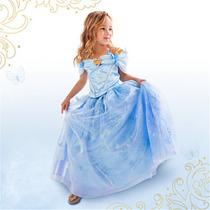Vestido Fantasia Cinderela Filme Novo Princesa Festa